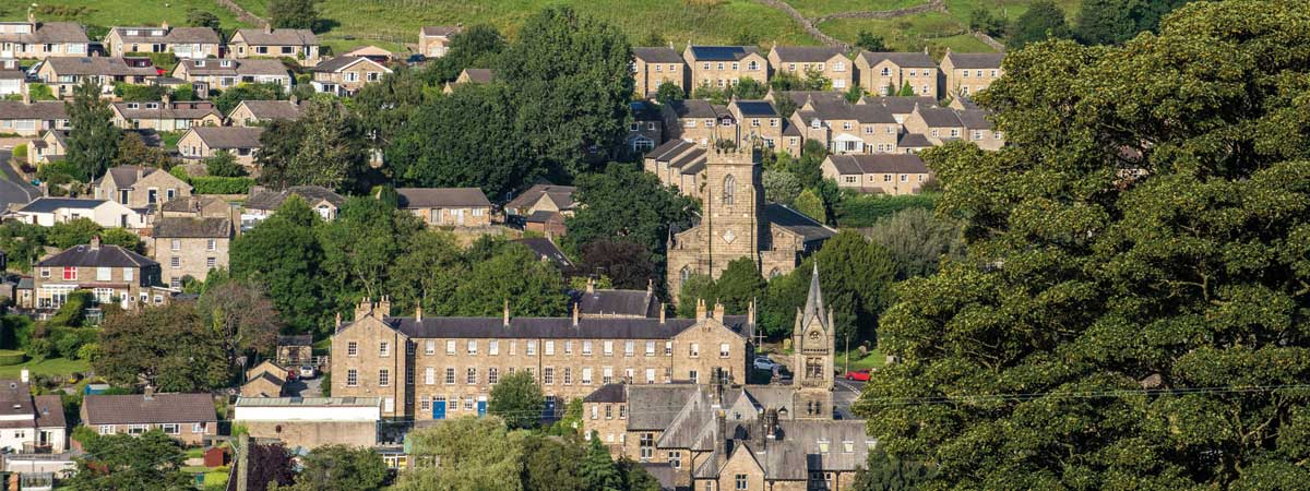 Pateley Bridge aerial view